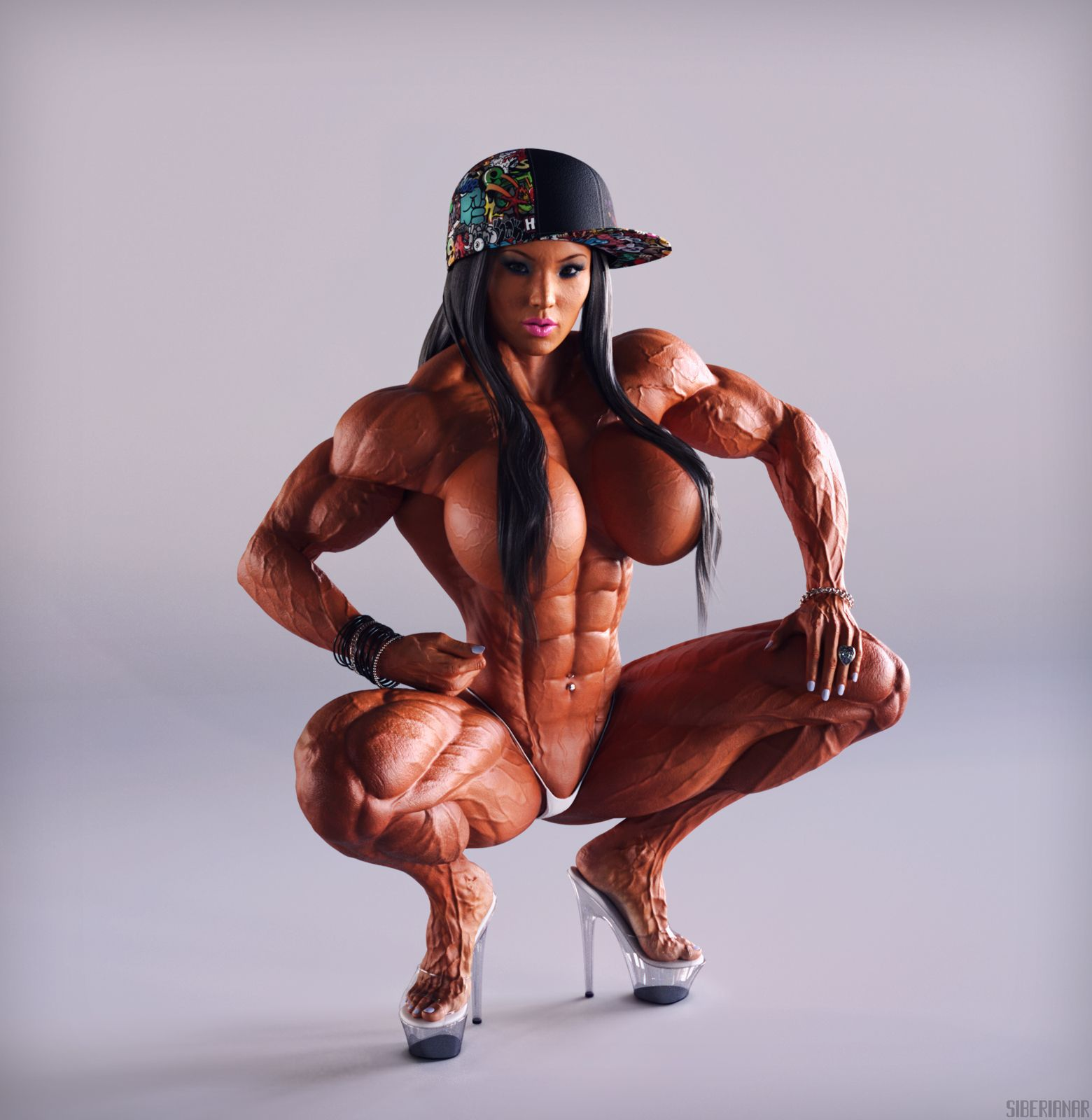 hairy muscle girl
