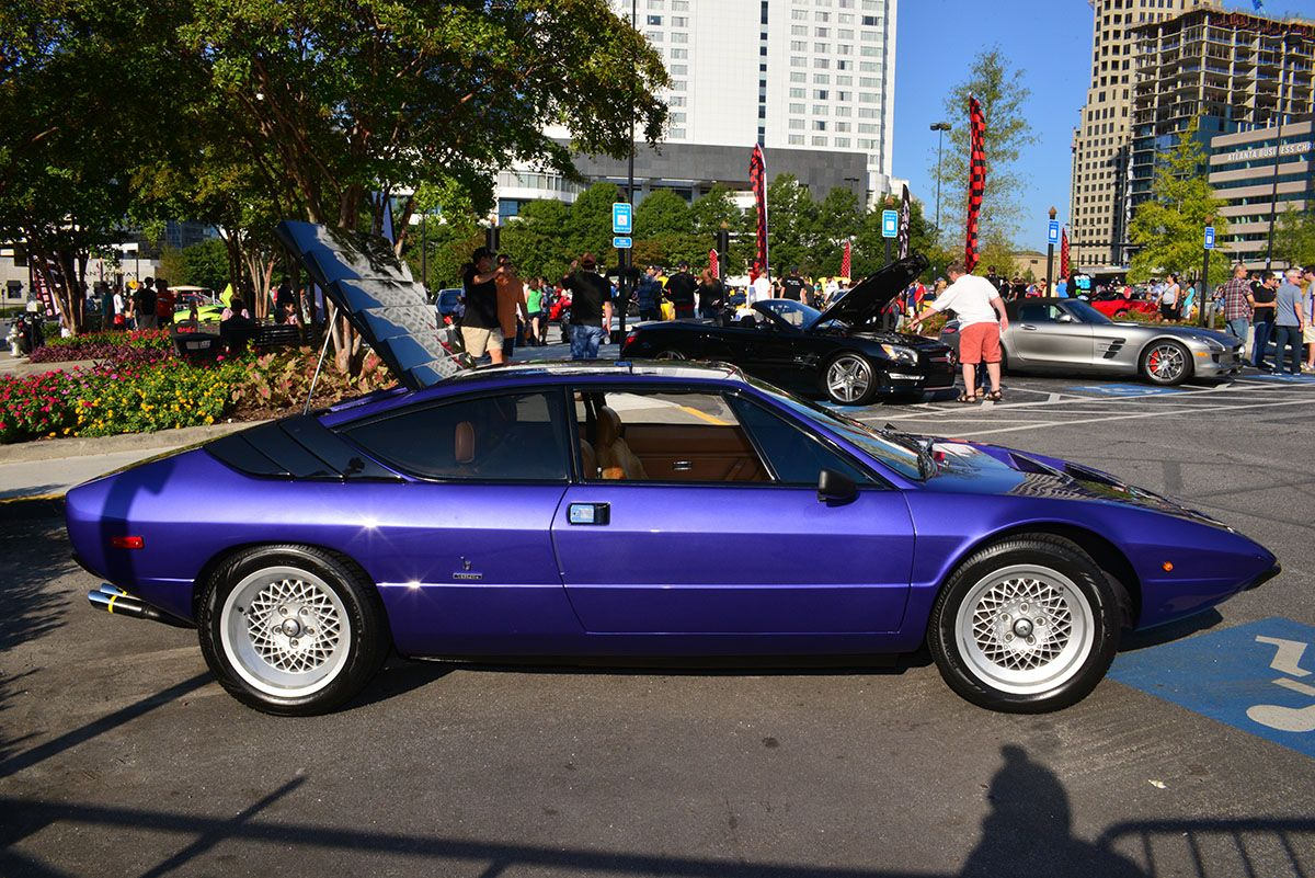 Lamborghini Urraco at Caffeine & Exotics in Atlanta