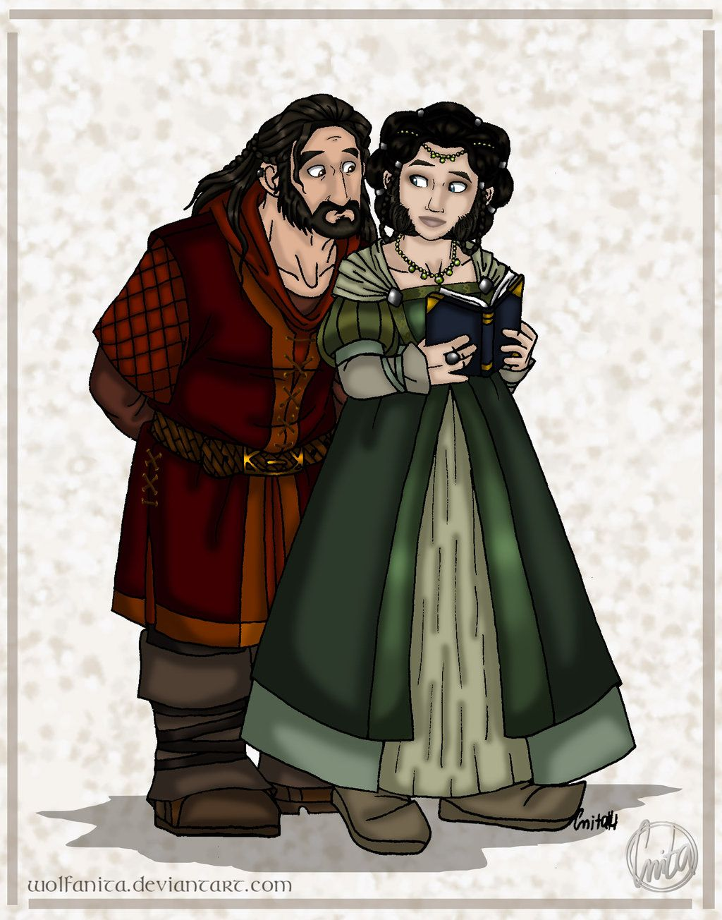 The Hobbit Doodle: Frerin and Dis by wolfanita on deviantart