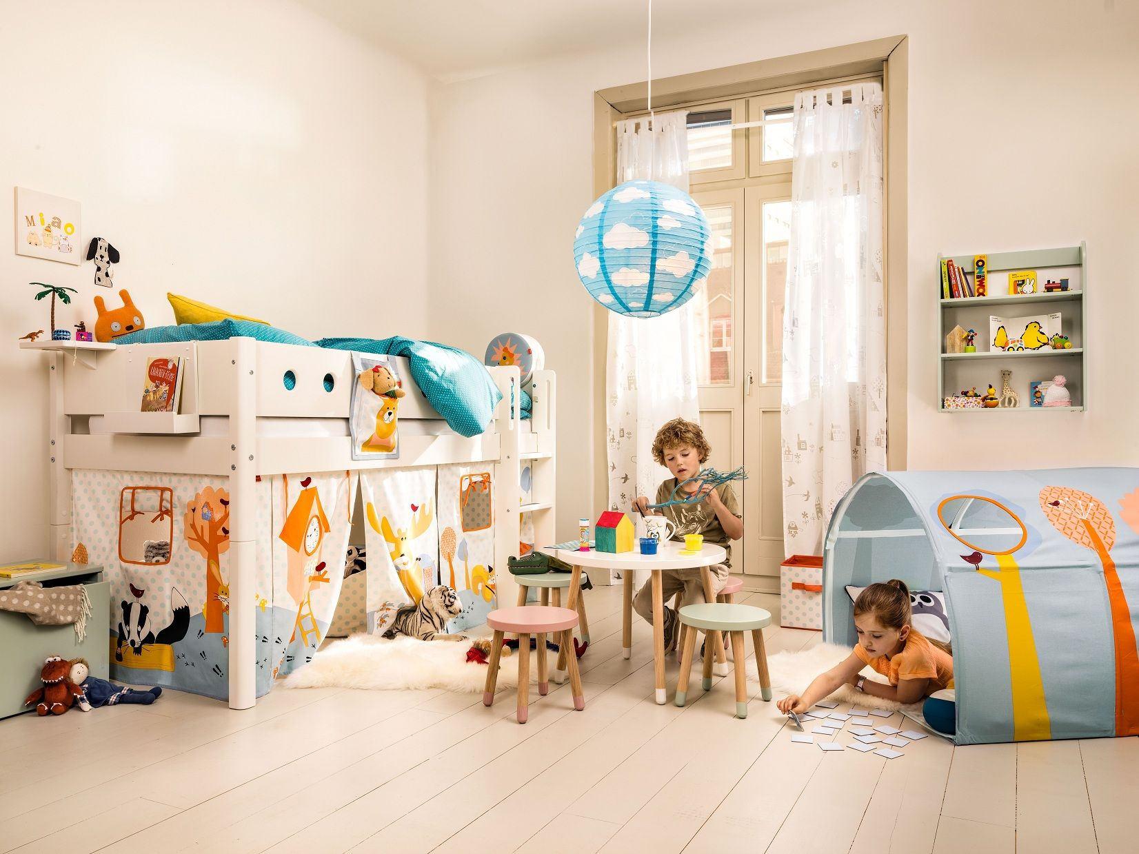Flexa white micasa kinder pinterest kids rooms for Halbhochbett kinderzimmer
