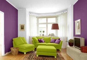 Wohnzimmer Farbkombination in Violett/Weiß/Grün | Kids room ...