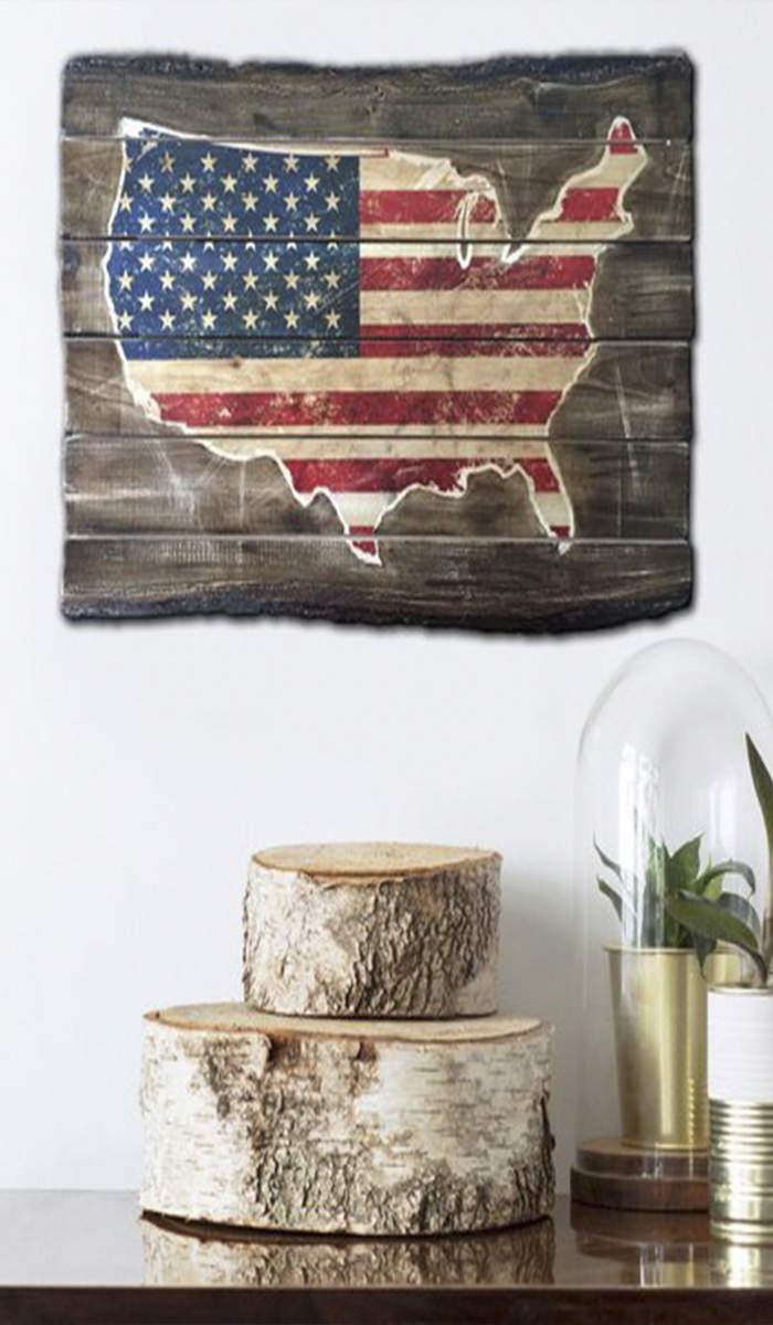 Wood Usa Flag Wood Map Of The Usa Flag Wall Art Wood Usa Map Usa Map