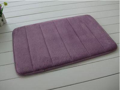 Slow Rebound Memory Foam Bath Mat Slip Resistant Absorbent Mats