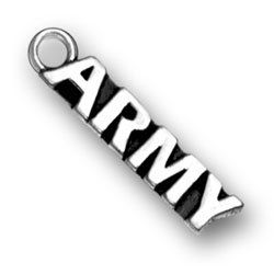 Got this beautiful Army Charm to add to my collection from Amazon!! I PUT IT ON A CHAIN WUTH ANOTHER ITEM AND HAVE Gotten so many compliments.  Smaller than size but true to standard. Love it!!