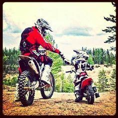 Boy Father Bike Dirt Bikes Dirtbikes Motocross