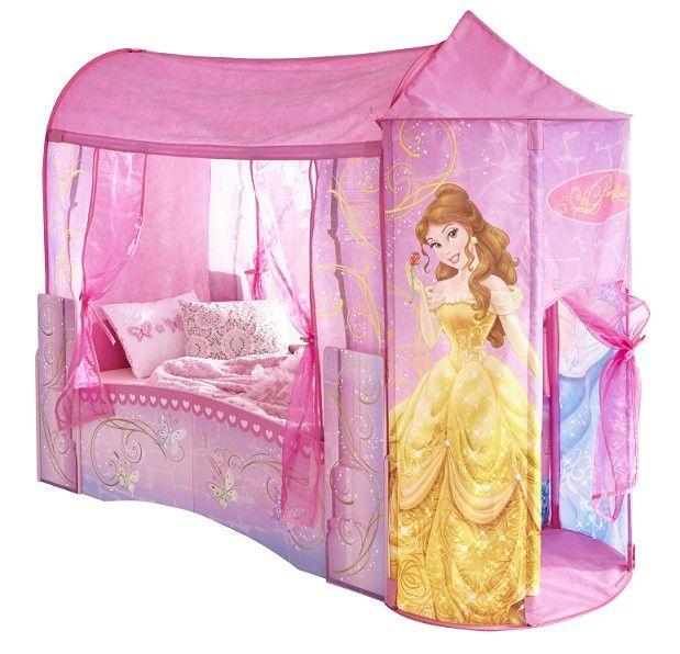 Lit enfant pavillon disney 70x140 lit id al pour la - Tour de lit princesse disney ...