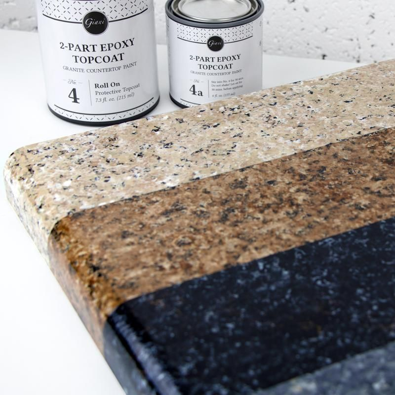 2 Part Epoxy Topcoat Kit For Giani Countertop Paint Faux Granite Countertops Painting Kitchen Countertops Painting Countertops