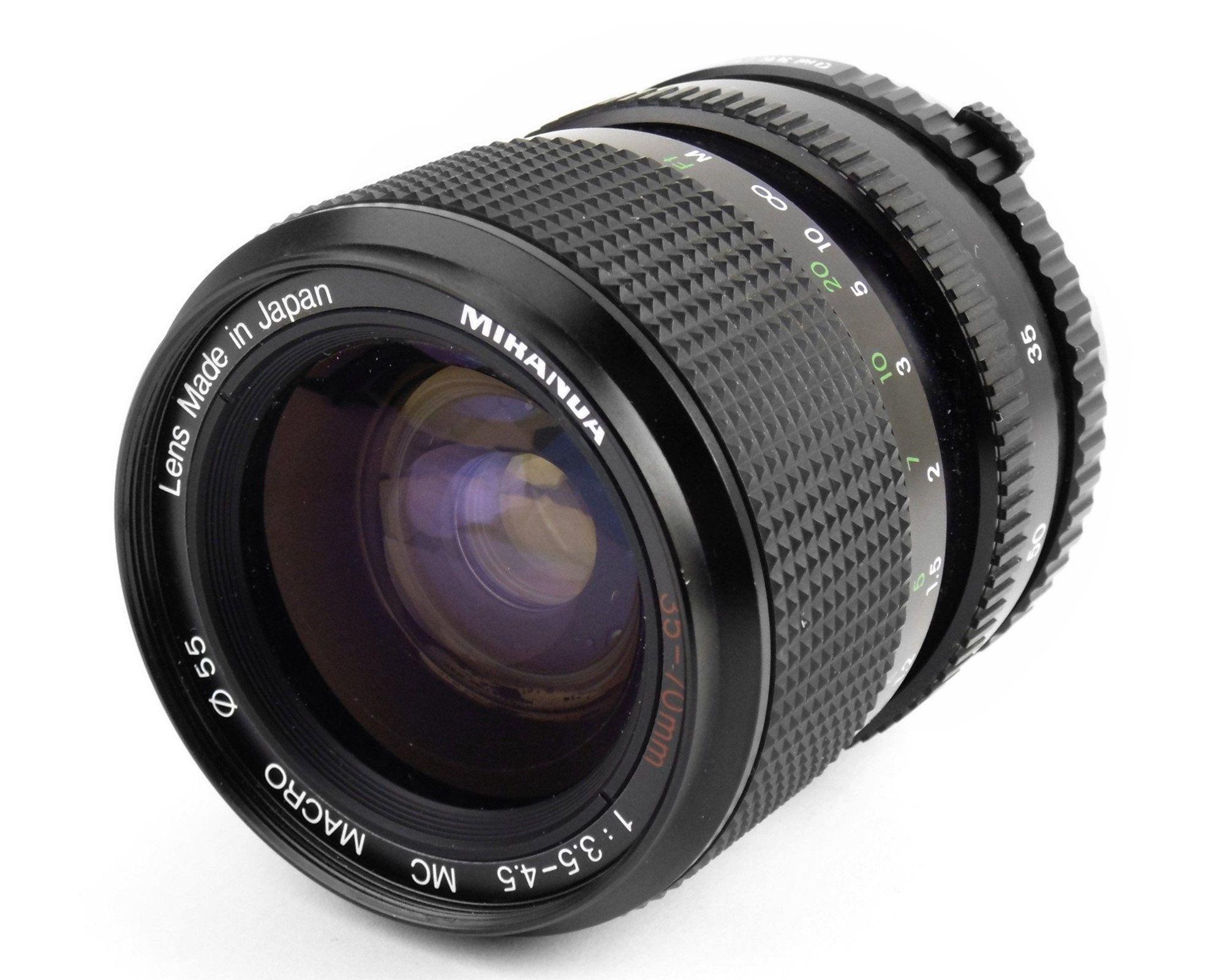 Olympus Om Mount 35 70mm F 3 5 Zoom Telephoto Lens By Miranda In 2020 Olympus Vintage Film Camera Lens