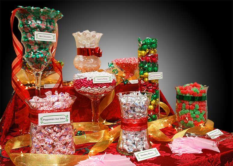 Christmas Theme Candy Bar Event Ideas Pinterest