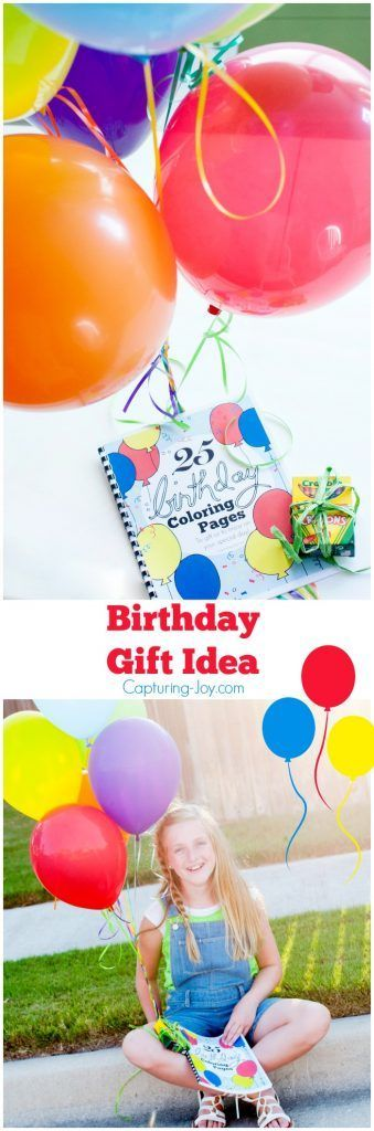 25 Birthday Coloring Pages e-book. Add a package of crayons and this become a quick and easy gift idea. http://Capturing-Joy.com