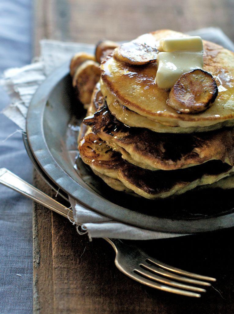 Sour Cream Pancakes From The Pioneer Woman White On Rice Couple Sour Cream Pancakes Recipes Banana Recipes