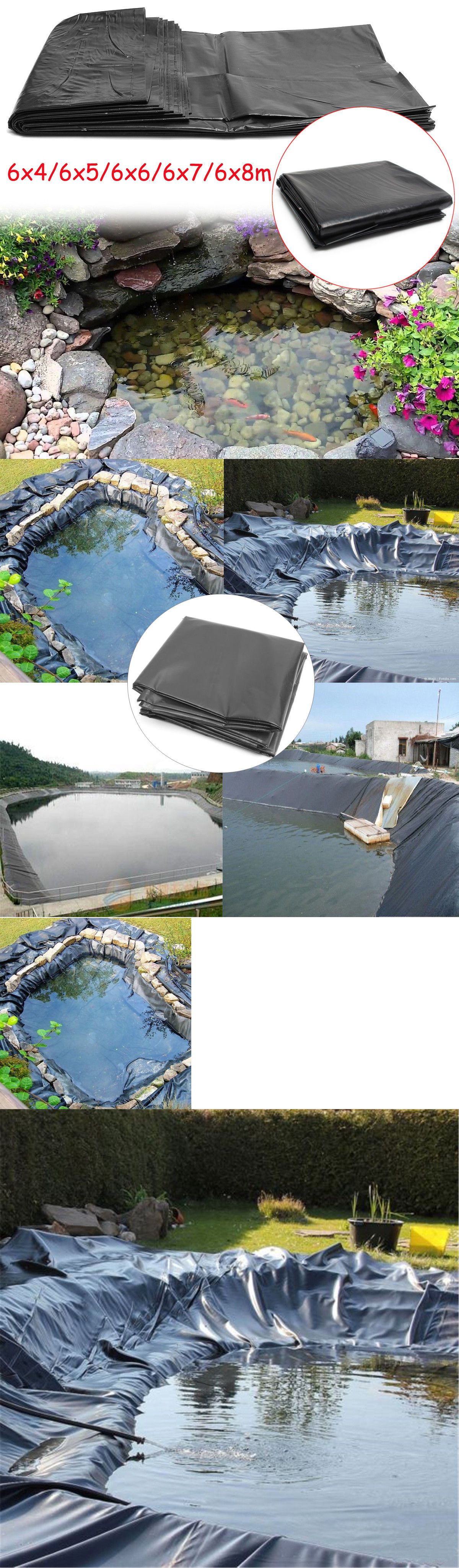 19.69*26.25ft 5 Sizes HDPE Fish Pond Liner Pool Waterproof Impermeable Membrane