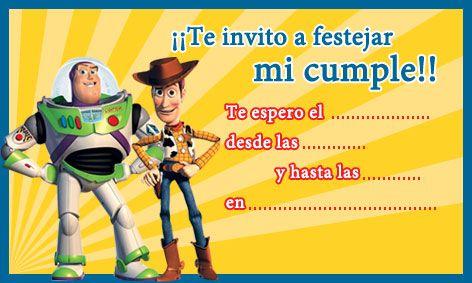 Invitaciones De Toy Story Invitaciones De Toy Story
