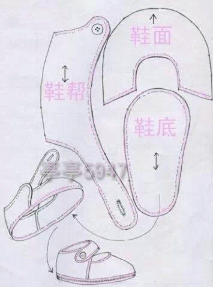 Moldes de sapatinhos de bebê em EVA | Sapatos de feltro