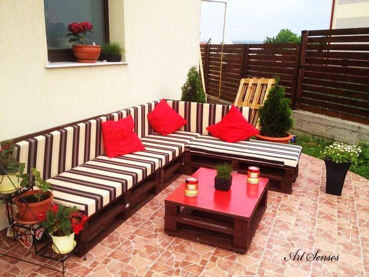 ideen mit paletten terrasse, balkon und veranda | kunst sinne, Terrassen ideen