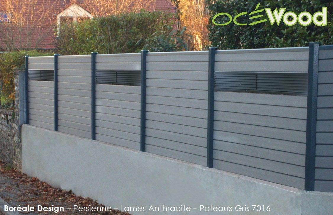 excellent panneaux de cloture en composite ocwood persiennes aluminium with panneau persienne. Black Bedroom Furniture Sets. Home Design Ideas