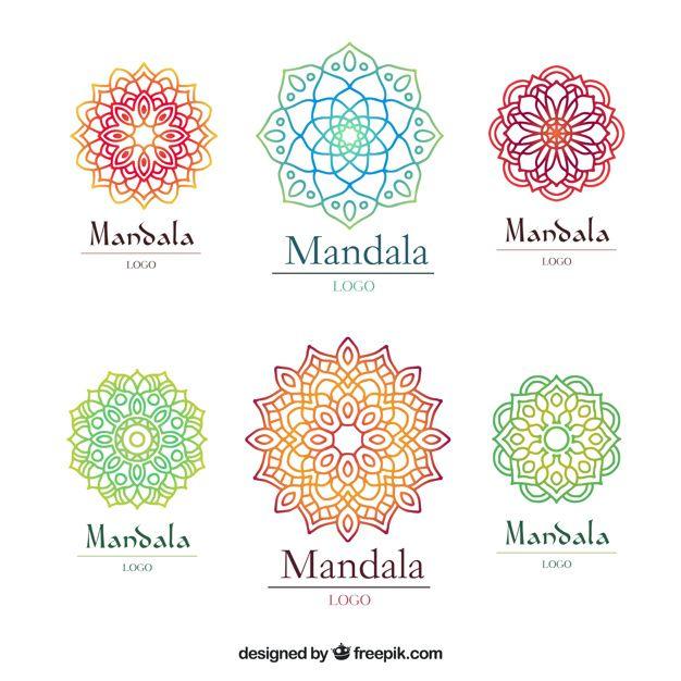 Download Multicolor Mandala Logo Template For Free