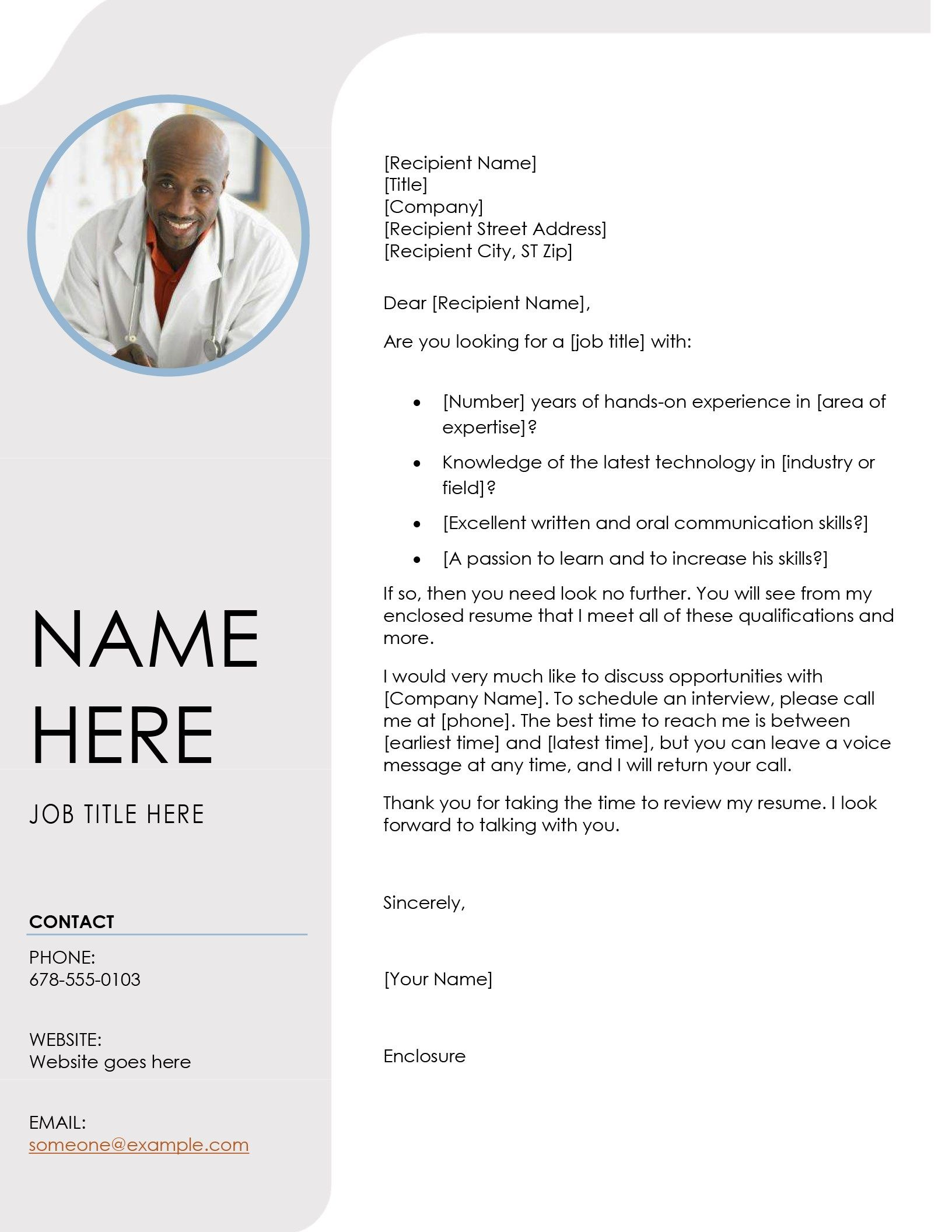 Blue grey cover letter Resume design template, Resume