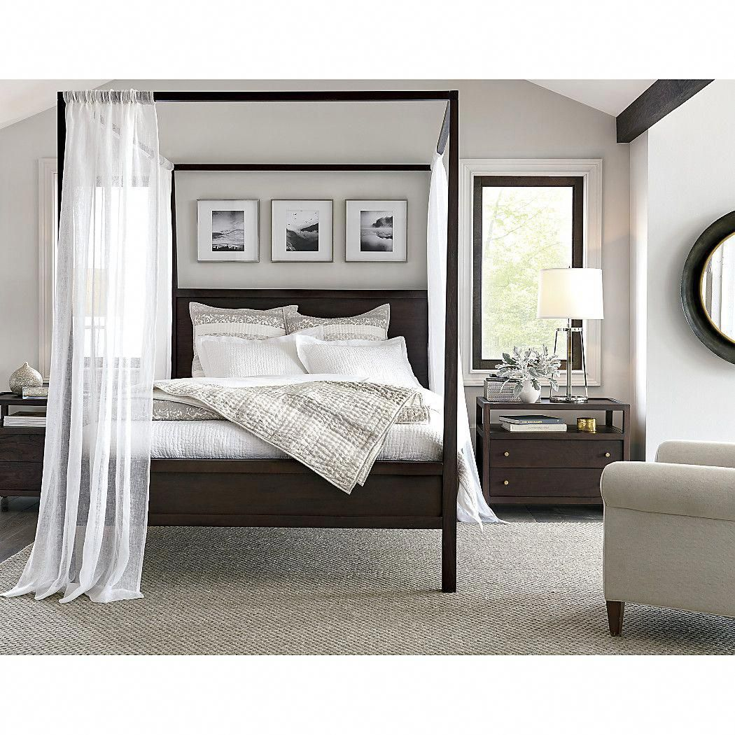 Shop keane canopy bed the beds rustic brown finish lends decor friendly warmth
