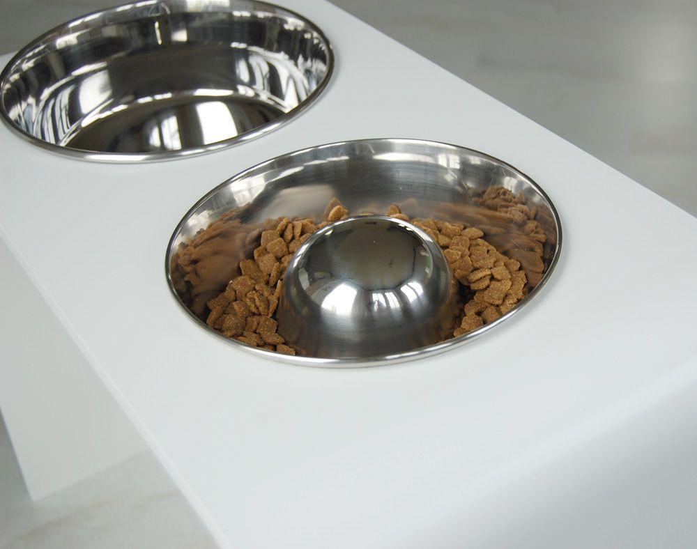 Raised Slow Feed Dog Bowl By Trendy Pet Dog Bowls Elevated Dog