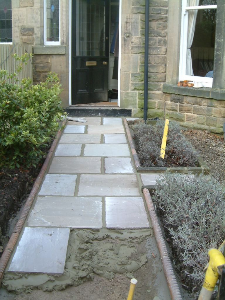 front path and victorian edging tiles | olive garden design and
