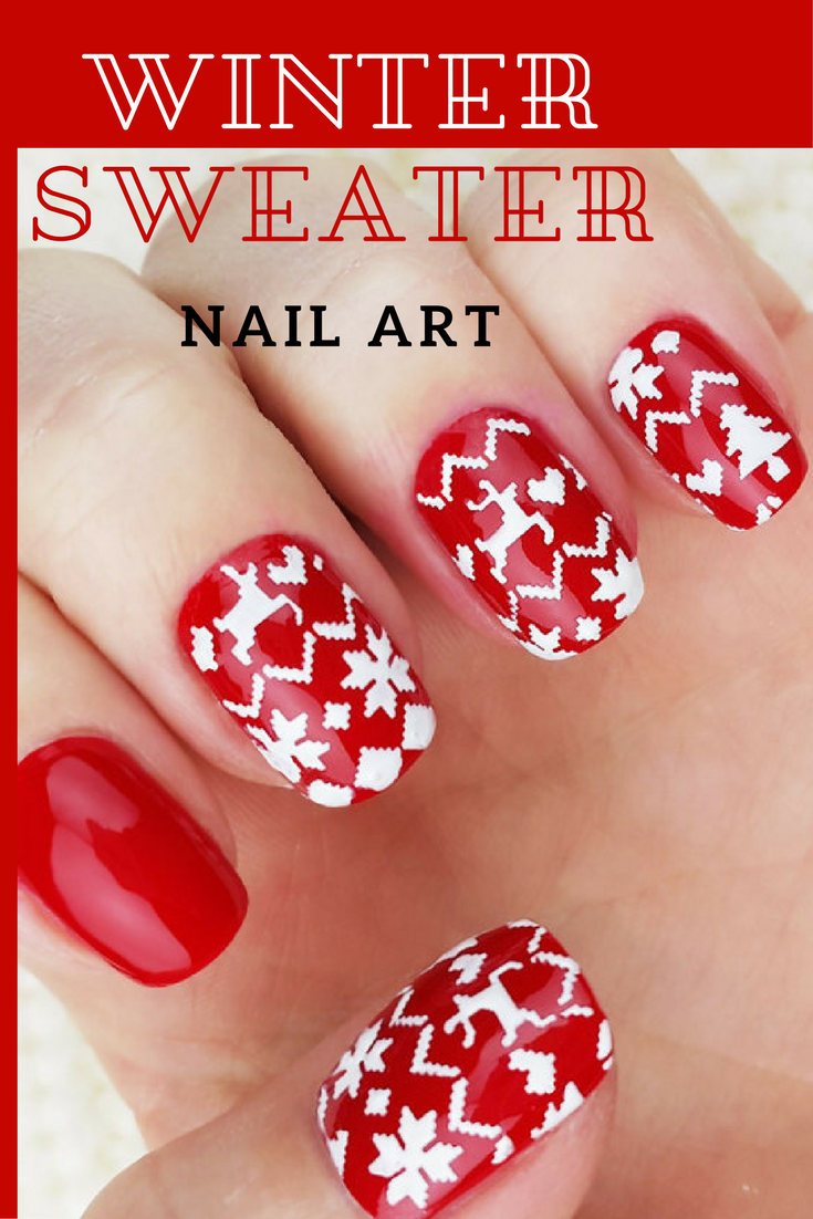 These nails are just too cute to go along with that ugly christmas ...