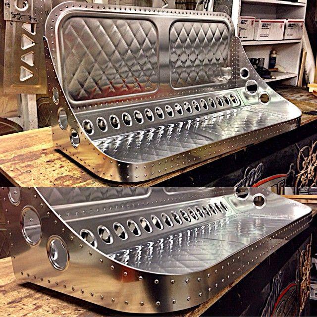 Sheet Metal Design Bench Seat Art Fabrication Sheetmetal Sheet Metal Fabrication Custom Car Interior Metal Furniture