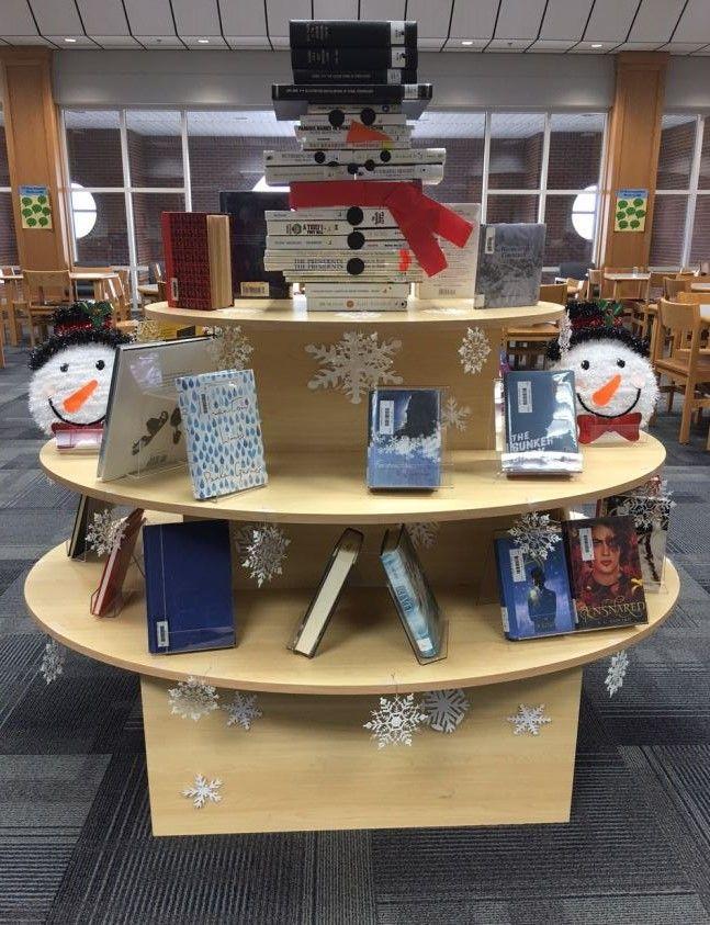 Snowman Book Display