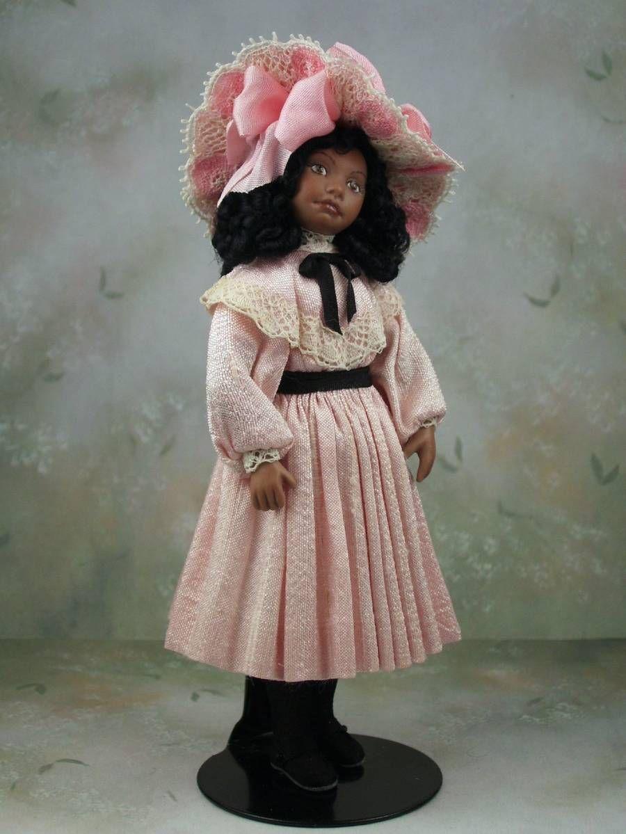 1 12 Scale Edwardian Era Dollhouse Miniature Porcelain Girl Doll By Terri Davis Doll Clothes Girl Dolls Tiny Dolls