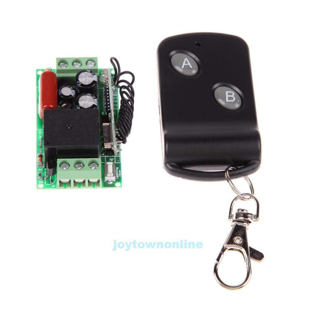 220v 315 433mhz Wireless On Off Door Remote Control Switch Receiver Rf Circuit Board Garage Transmitter
