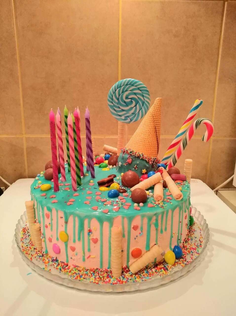 Enjoyable 27 Great Picture Of Homemade Birthday Cakes Homemade Cakes Personalised Birthday Cards Veneteletsinfo