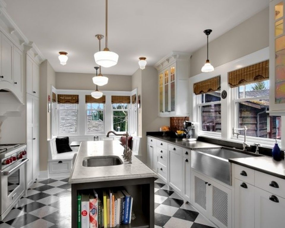 Small Kitchen With Island Floor Plan image of: galley kitchen with island floor plans | townhouse reno