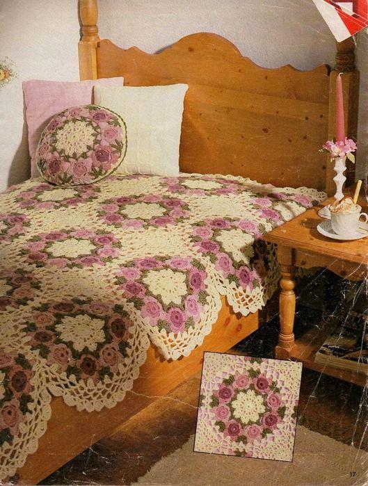 Rosendecke häkeln... | Crochet Blankets | Pinterest | Häkeln ...