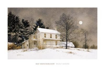 (16x24) Ray Hendershot Wolf Moon Art Print Poster Poster Revolution http://smile.amazon.com/dp/B0030JKJS6/ref=cm_sw_r_pi_dp_l72dub1JNHR4K