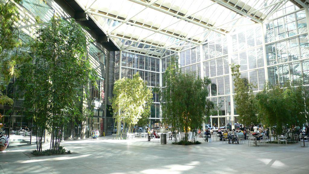 Ibm Building In New York City Arch Building Atrium Interior Garden