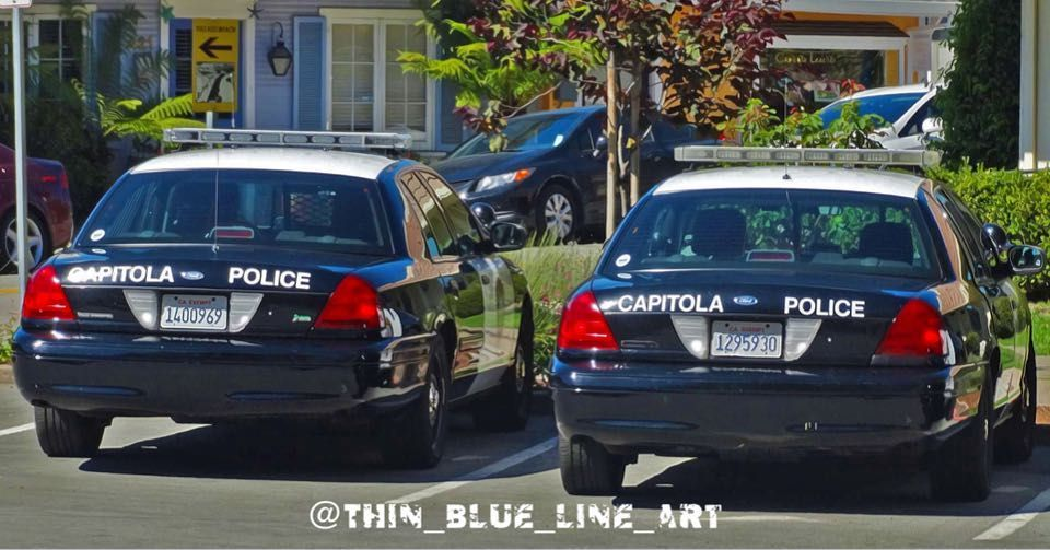 Capitola police department ford crown victorias  #crownvic