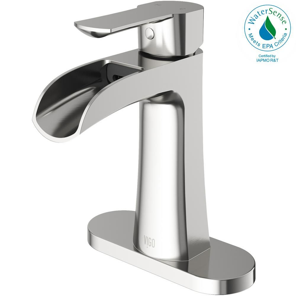 Vigo Paloma Single Hole Single Handle Bathroom Faucet With Deck