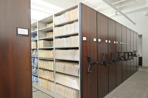 At The Skokie Police Department, A Mechanical Assist Mobile System Was  Installed In The Records Department To Make The Best Use Of Available Space  And To ...
