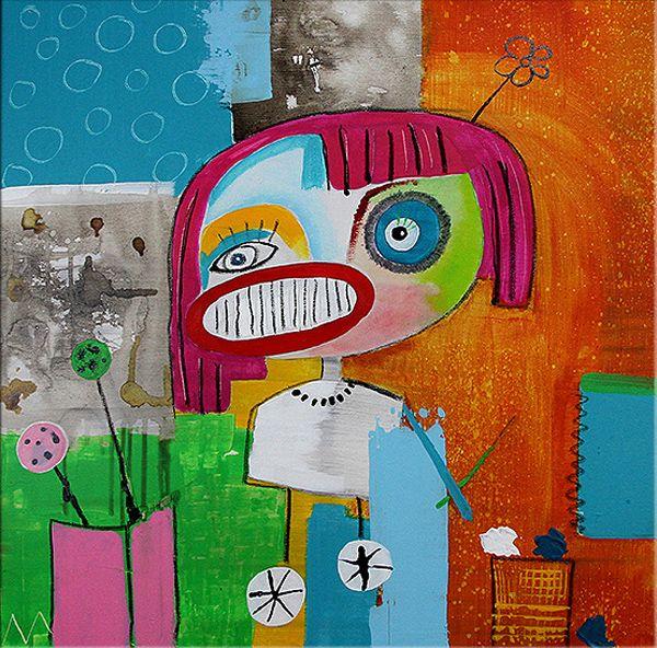 Moderne Kunst Online Kaufen Crazy Ii Rollergirl Neue Werke Auf