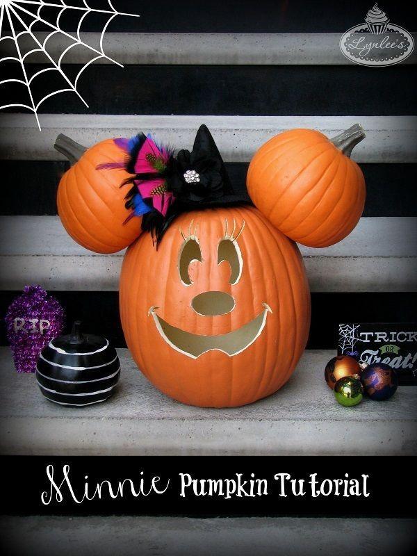 How to Carve a Magical Minnie Pumpkin!