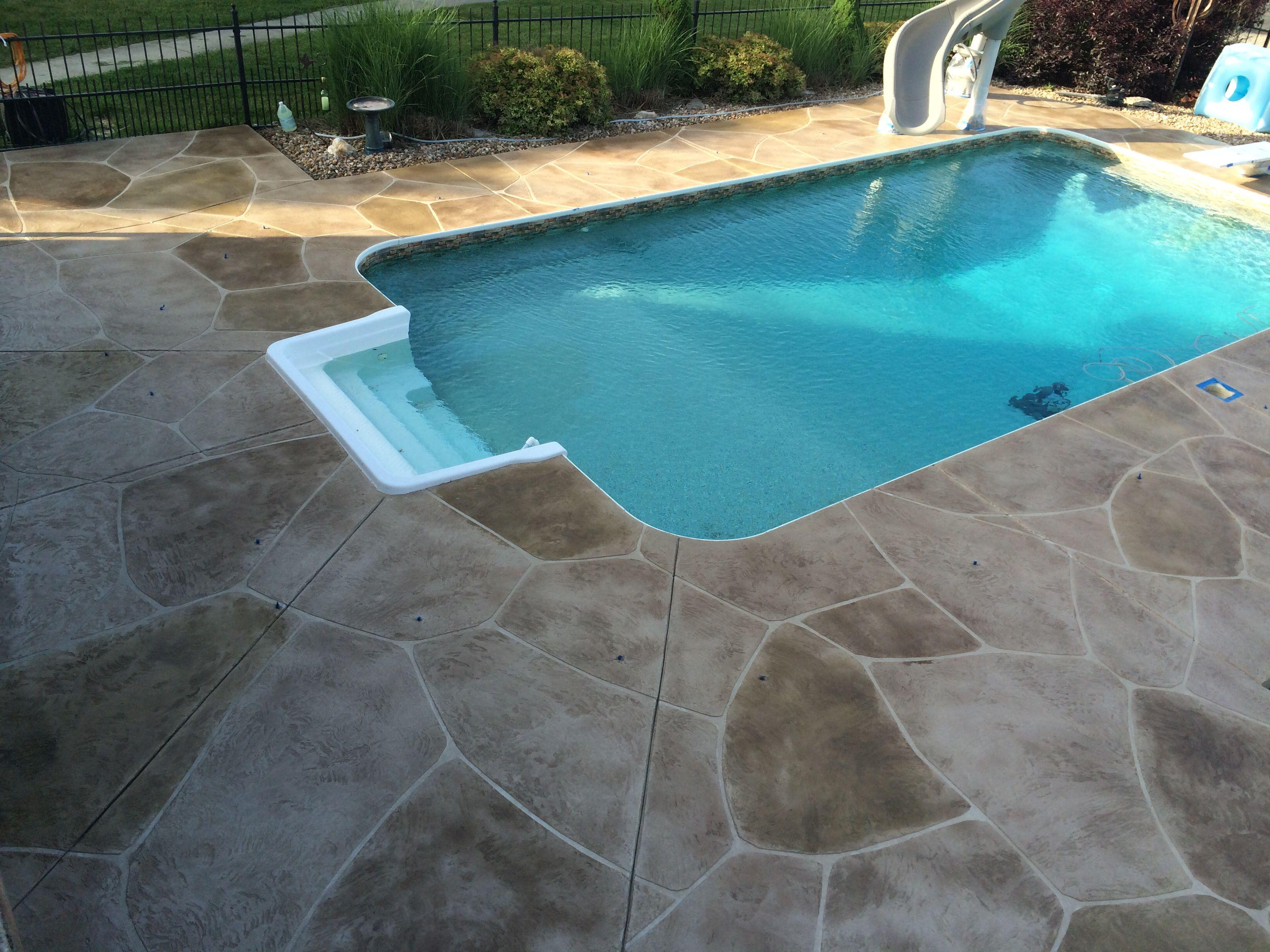 Tuscan trowel resurfacing on this pool deck