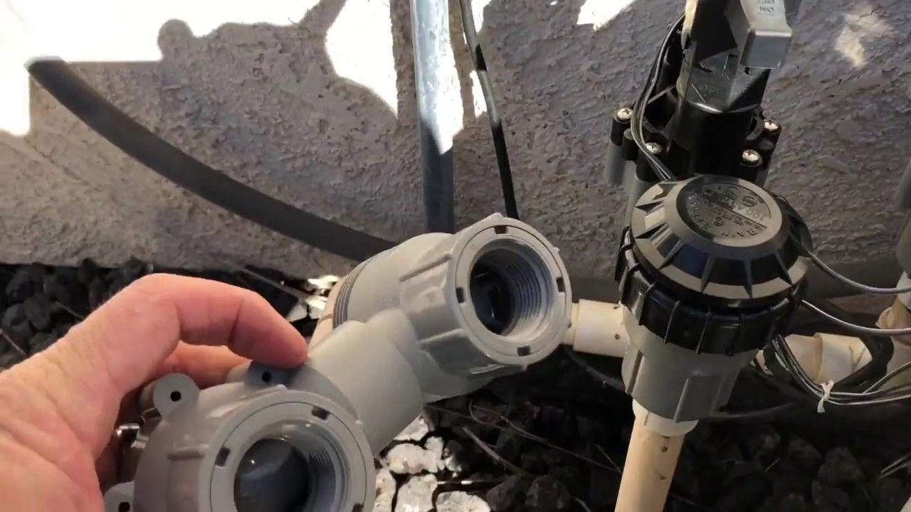 Fixing a sprinkler valve quick fix no glue sprinkler