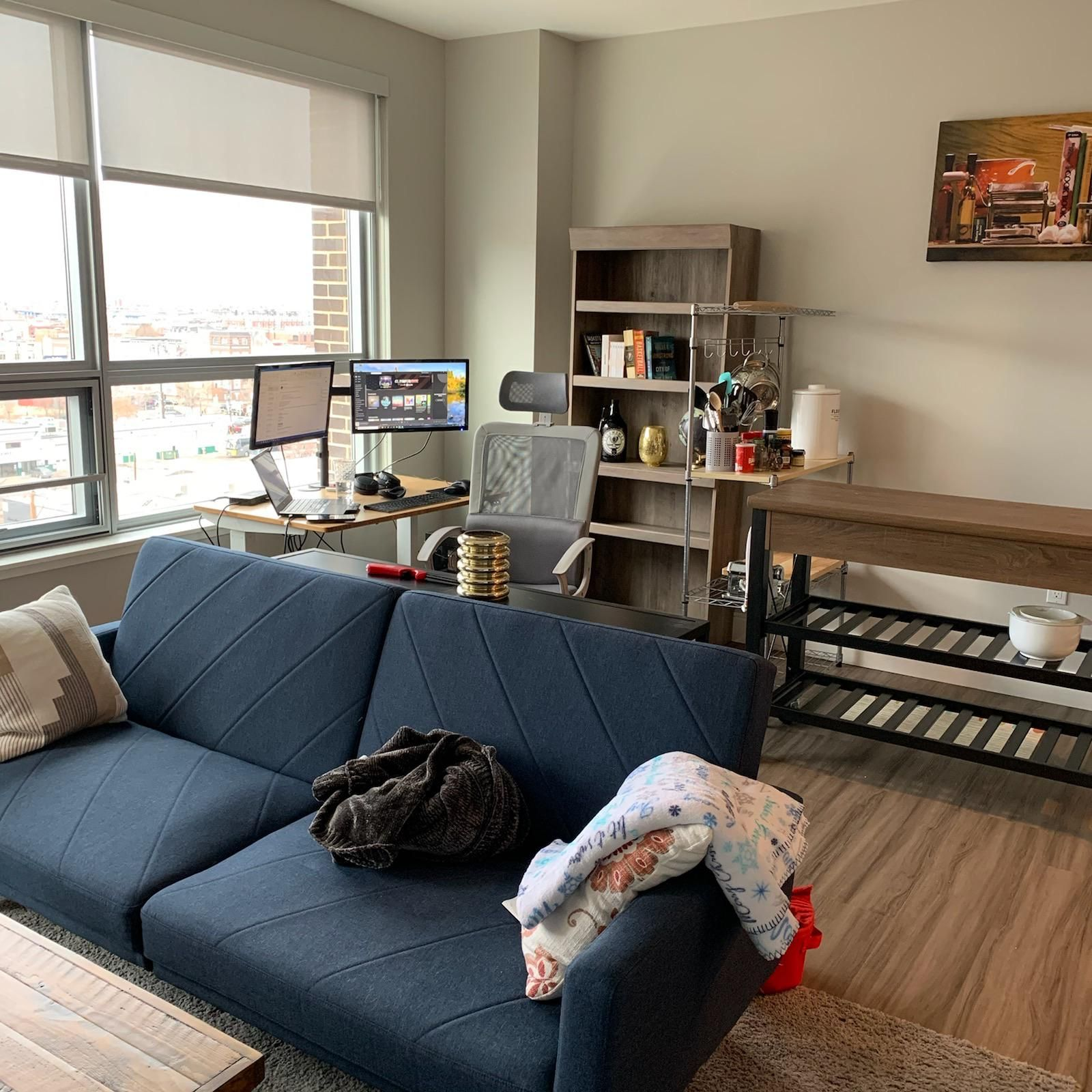 This Is My Apartment There Are Many Like It But This One Is Mine Gloomy Day Here But Feeling Very Appreciat In 2020 Mens Apartment Decor Living Spaces Apartment Decor