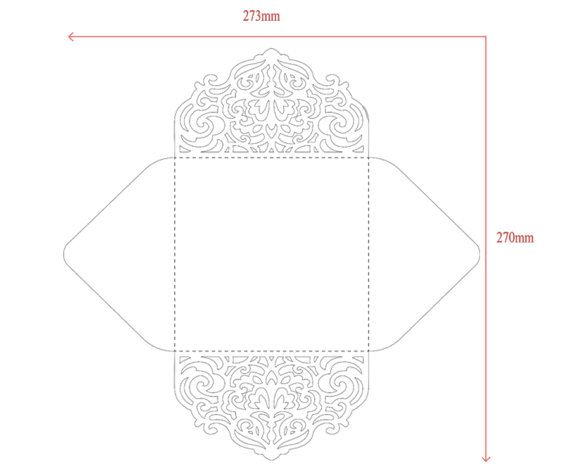 Four-fold envelope laser cut template SVG by NarisariDigitalArt - 4x6 envelope template