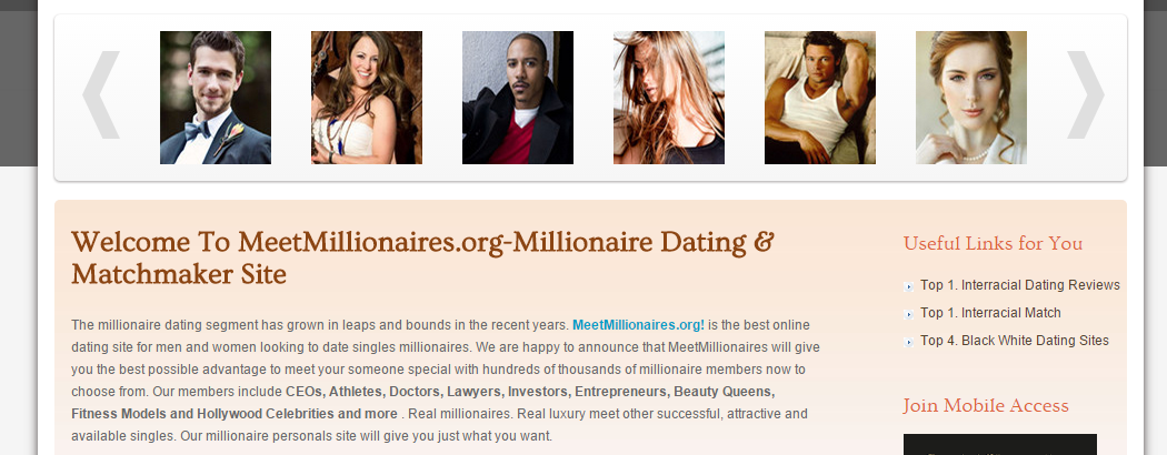 MeetMillionaires.org is the #1 millionaire matchmaker App for successful,  attractive, and