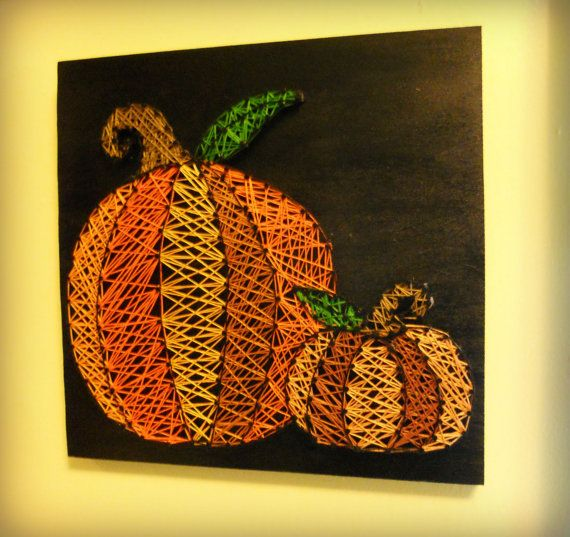 fall decor, pumpkin string art, home decor, pumpkin decor, halloween - halloween arts and crafts decorations