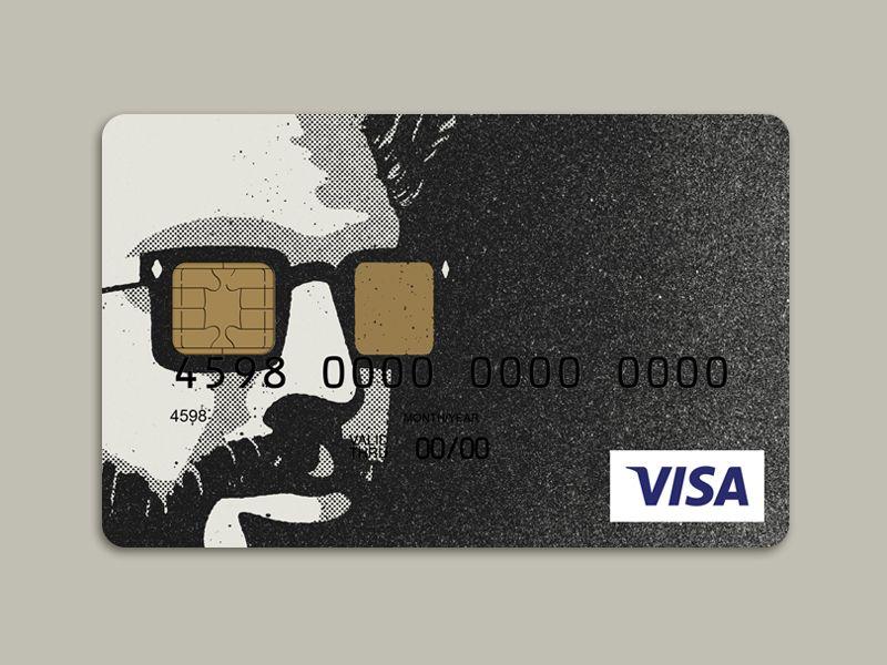 Stencil Portrait Credit Card Design Credit Card Design Debit Card Design Card Designs Inspiration