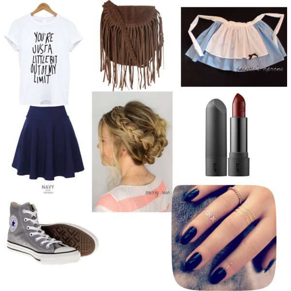 working by gisellat on Polyvore featuring polyvore fashion style QNIGIRLS Converse Glamorous Lottie