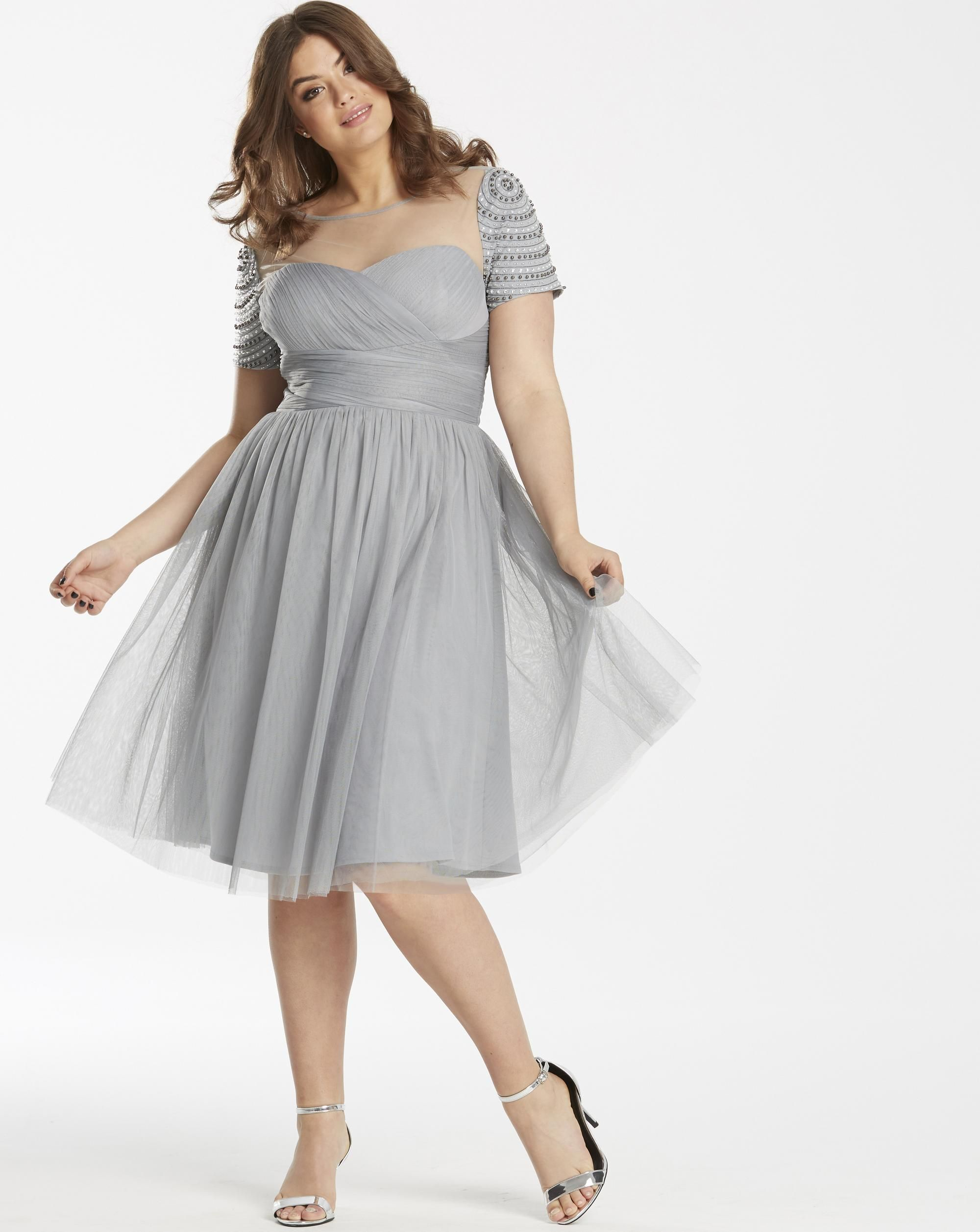 Plus size party dresses for weddings  Plus Size Formal Dress  Plus Size Embellished Wrap Dress for prom
