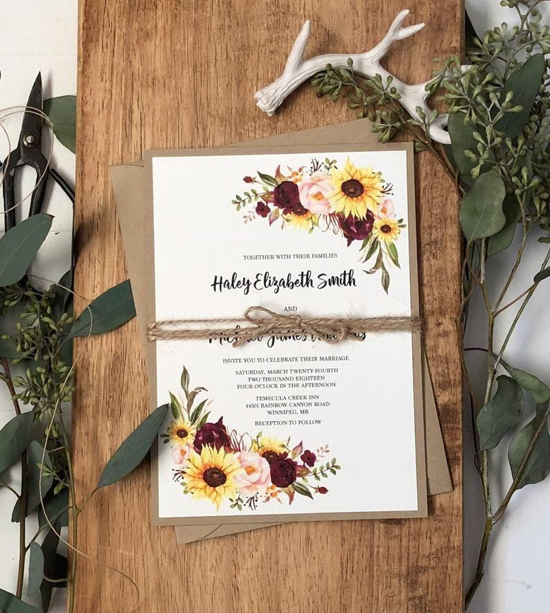 27+ Sunflower wedding invitations etsy information